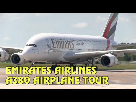 Tour Emirates Airlines A380 airplane in Orlando