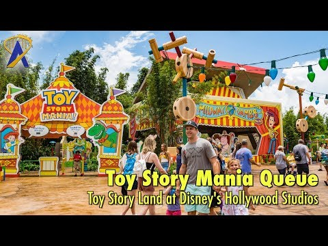 Inside the updated Toy Story Mania queue in Toy Story Land at Disney's Hollywood Studios