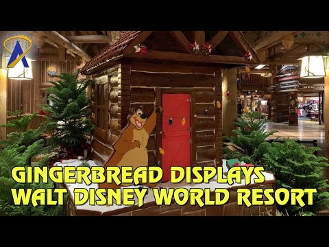 Gingerbread Displays Around Walt Disney World Resort