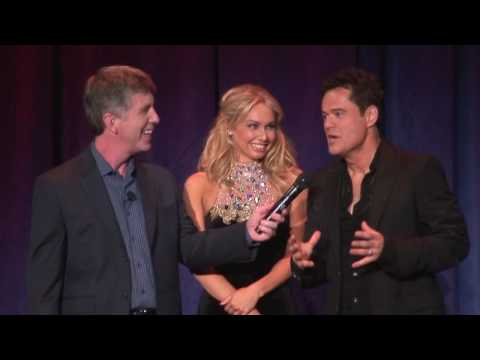 Dancing with the Stars winners Donny Osmond and Kym Johnson at the Disney D23 Expo