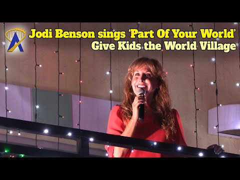 Jodi Benson Sings 'Part Of Your World' at Night Of A Million Lights At Give Kids The World Village