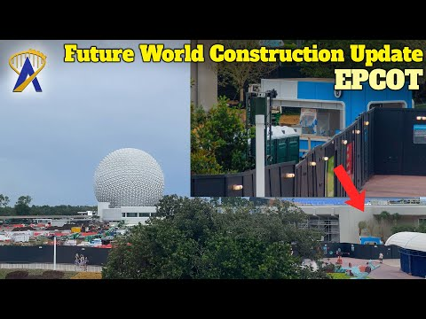 Epcot Future World Construction Update on Re-Opened Monorail Loop