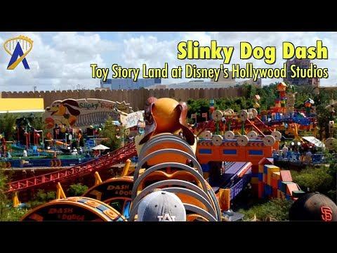 Slinky Dog Dash Roller Coaster FULL POV in Toy Story Land