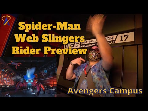 Ridercam and Preview of Web Slingers: A Spider-Man Adventure in Avengers Campus