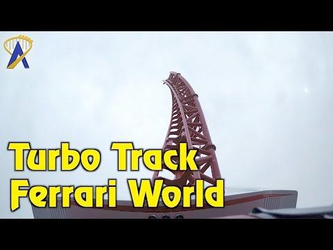 Turbo Track Roller Coaster POV at Ferrari World Abu Dhabi