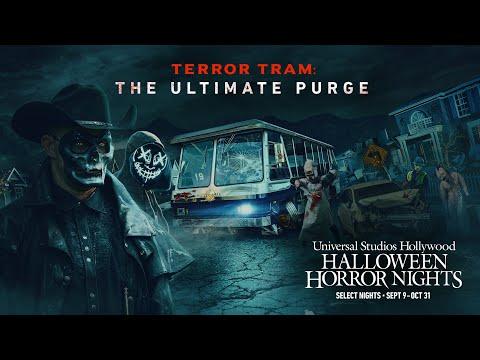 Terror Tram: The Ultimate Purge Reveal | Halloween Horror Nights 2021 #UniversalHHN