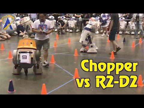 R2-D2 versus Chopper in Droid Races at Star Wars Celebration