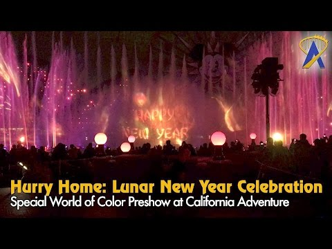 Hurry Home Lunar New Year Celebration preshow for World of Color