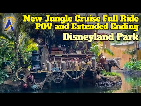 New Jungle Cruise Full Ride POV at Disneyland Park With Extended Ending Jokes
