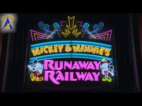 Mickey & Minnie's Runaway Railway Marquee at Night - Disney's Hollywood Studios