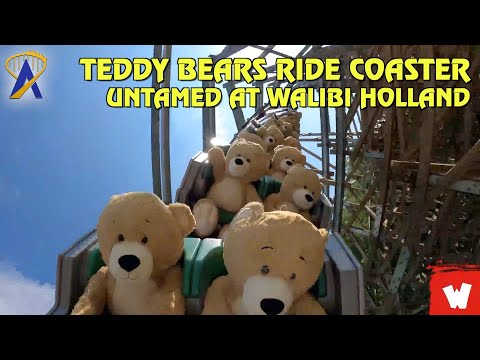 22 Teddy Bears Take a Ride on Untamed Roller Coaster at Walibi Holland