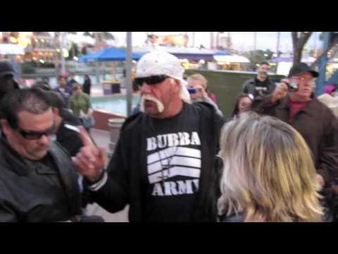 Hulk Hogan meets fans at Universal Orlando CityWalk before his TNA debut