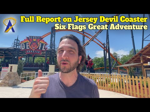 Show Report and Interview for Jersey Devil Coaster at Six Flags Great Adventure