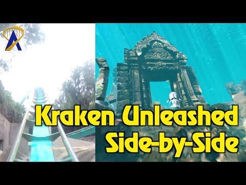 Kraken Unleashed Side-by-Side Comparison POV - SeaWorld Orlando