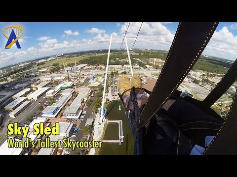World's Only Sky Sled harness on World's Tallest Skycoaster at Fun Spot America