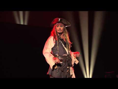 Johnny Depp as Captain Jack Sparrow at the Disney D23 Expo 2015
