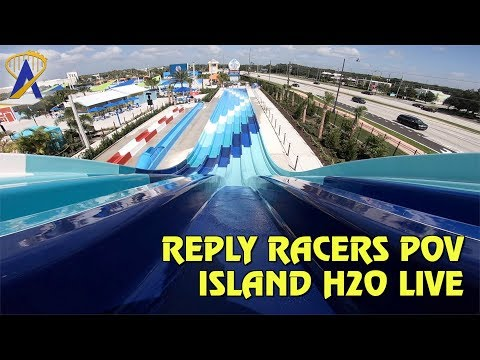Reply Racers Slide POV at Island H20 Live Water Park