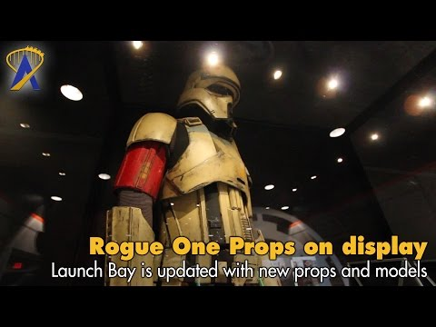 Rogue One Props at Star Wars Launch Bay