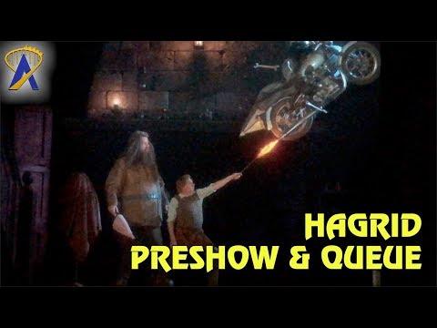 Hagrid's Magical Creatures Motorbike Adventure Preshow and Queue