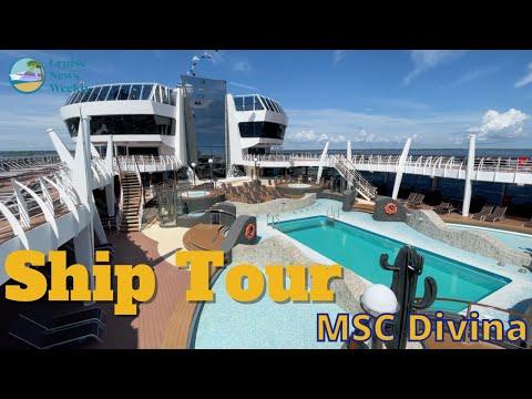 MSC Divina Ship Tour at Port Canaveral