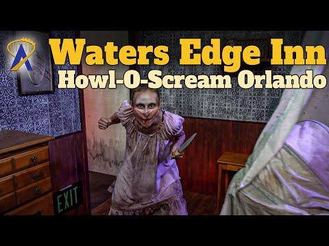 Waters Edge Inn Haunted House Full Walkthrough – Howl-O-Scream Orlando