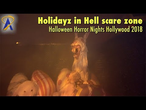 Holidayz in Hell scare zone at Universal Studios Hollywood's Halloween Horror Nights 2018