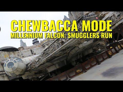 """Chewbacca Mode"" on Millennium Falcon: Smugglers Run"