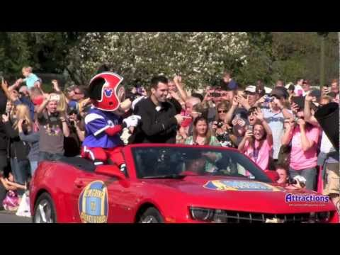 Super Bowl MVP Joe Flacco at Disney World - Magic Kingdom visit 2013