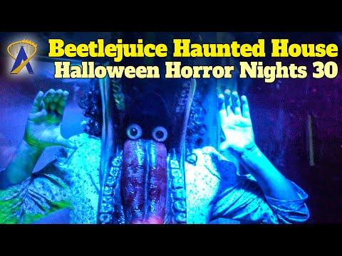 Beetlejuice Haunted House Walkthrough - Halloween Horror Nights 30 - Orlando