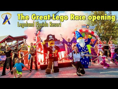 Grand Opening of The Great Lego Race at Legoland Florida Resort