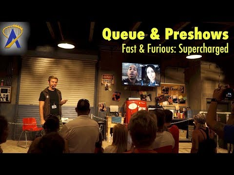 Fast & Furious - Supercharged Queue & Preshows at Universal Orlando