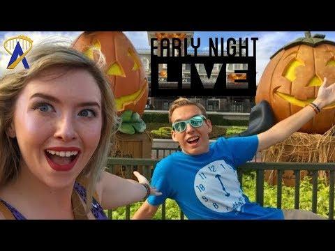Early Night Live: Enjoying the Halloween Decor on Main Street USA