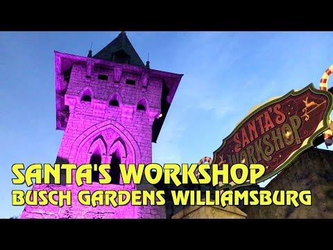 Santa's Workshop during Christmas Town at Busch Gardens Williamsburg