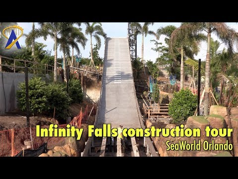 Infinity Falls construction tour and ride details - SeaWorld Orlando