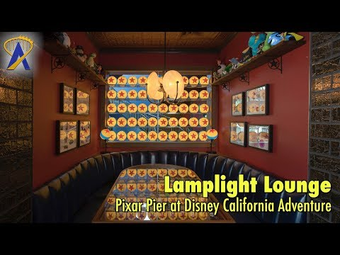 Lamplight Lounge restaurant and bar in Pixar Pier at Disney California Adventure