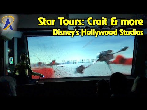 New Star Wars Crait scene and More at Star Tours Ride at Disney's Hollywood Studios