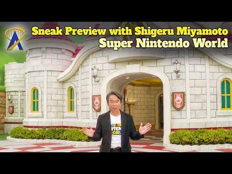 Super Nintendo World Sneak Preview by Nintendo General Manager Shigeru Miyamoto (English Dub)