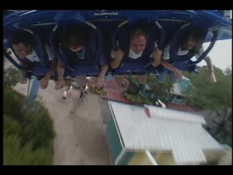 A full ride on SeaWorld's new Manta roller coaster