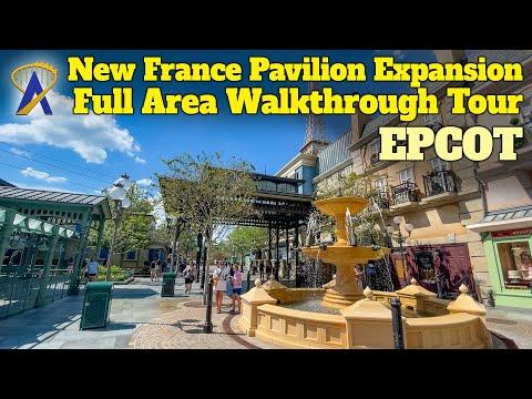 Full Walkthrough Tour of New Ratatouille France Pavilion Expansion