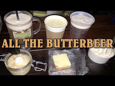 Taste Testing every kind of Butterbeer offering at Wizarding World of Harry Potter