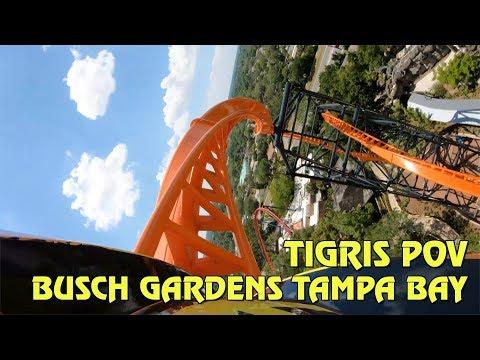 Tigris Roller Coaster Front & Back Row POV at Busch Gardens Tampa Bay