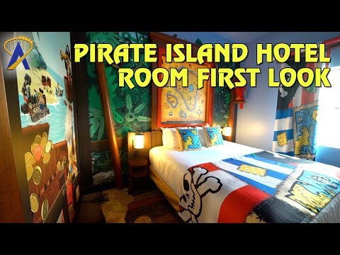 First Look inside Pirate Island Hotel Rooms at Legoland Florida Resort