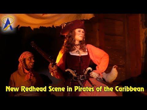 New Redhead Scene in Pirates of the Caribbean at Walt Disney World