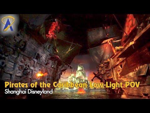 Full Pirates of the Caribbean Low-Light POV - Shanghai Disneyland