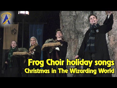 Hogwarts Frog Choir performs holiday songs during Christmas at The Wizarding World of Harry Potter