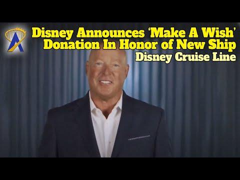 Disney Wish Cruise Ship - Make A Wish Donation Announcement