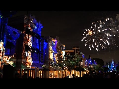 Full Disneyland Forever fireworks and projection show for #Disneyland60