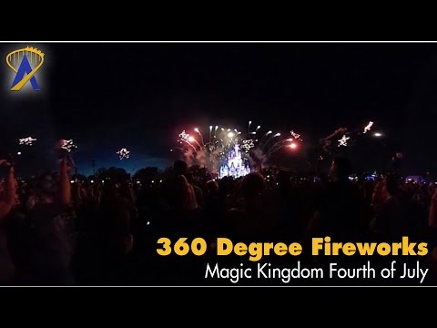360° Disney's 2016 Fourth of July Fireworks - Celebrate America Concert in the Sky