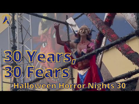 30 Years, 30 Fears Scare Zone at Halloween Horror Nights 2021