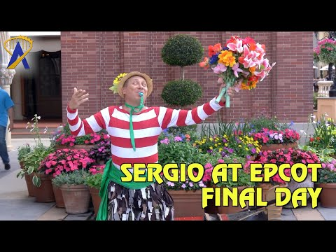 Last Day for Juggler and Mime Sergio in Italy At Epcot